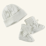 Ralph Lauren Boy Cotton Hat & Booties Set