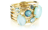 Ippolita 18k Gold Rock Candy Gelato 6-Stone Cluster Ring in Waterfall, Size 7