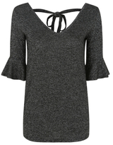 George Glitter-Effect Fluted Sleeve Tunic Top