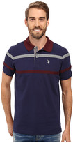 U.S. Polo Assn. Double Chest Stripe Pique Polo Shirt