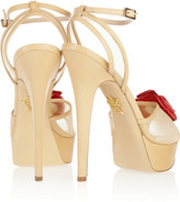 Charlotte Olympia Florentina floral-embellished mesh and leather sandals