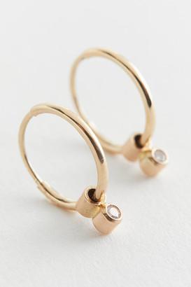 Oxbow Designs Endless Diamond Hoop Earring