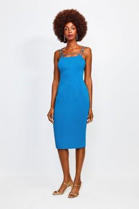 Karen Millen Strap and Bar Sexy Zip Back Dress