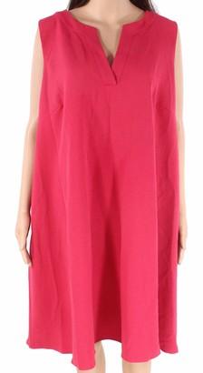 Adrianna Papell Women's Size Split Neck Shift Dress Plus