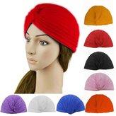 HuntGold 1X Unisex Head Cap Stretchy Wrape Turban Yoga Bandana Pleated Indian Hat