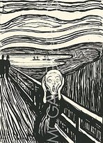"McGaw Graphics The Scream - Serigraph by Edvard Munch 24""x18"" Art Print Poster"