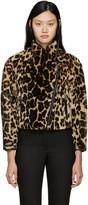 Burberry Leopard Print Shearling Jacket