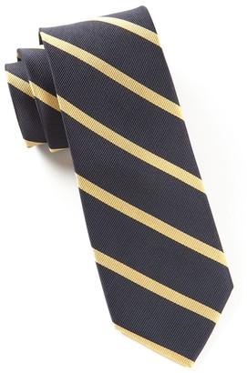 Tie Bar Trad Stripe Midnight Navy Tie