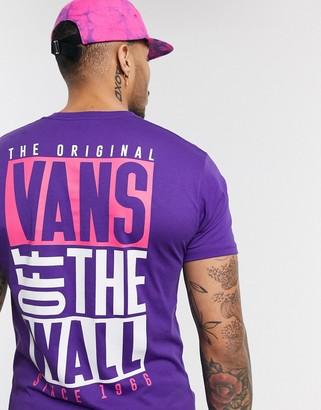 Vans New Stax t-shirt in purple