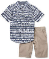 Lucky Brand Boys 4-7) Two-Piece Printed Shirt & Shorts Set