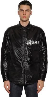 DSQUARED2 Logo Coated Nylon Shirt Jacket
