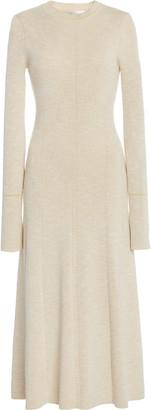 Victoria Beckham Fitted Cotton-Blend Dress