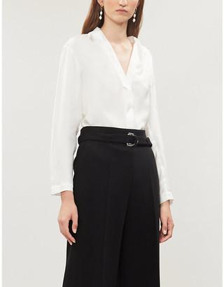 Sandro Lanna V-neck crepe blouse