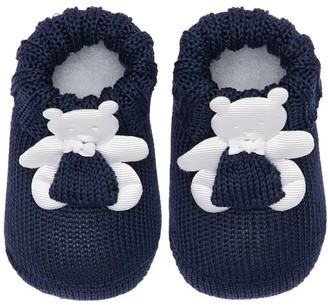 La Perla Cotton Knit Socks W/ Bear Appliques