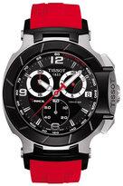 Tissot Watch, Men's Swiss Chronograph T-Race Red Rubber Strap T0484172705701