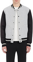 Barneys New York MEN'S BONDED JERSEY BOMBER JACKET