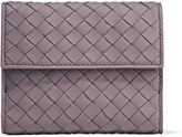 Bottega Veneta Intrecciato Leather Wallet - Purple