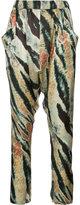 Baja East patterned trousers - women - Silk - 0