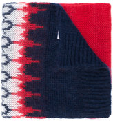 Moncler embroidered knitted scarf