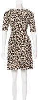 Kate Spade Leopard Print Pleated Dress