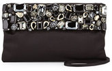 Prada Satin Clutch w/Crystals, Black (Nero)