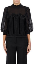 Dries Van Noten Women's Cather Embellished Cotton Voile Top-Black