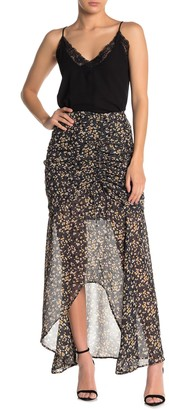 KENDALL + KYLIE Cinching Tie High/Low Maxi Skirt