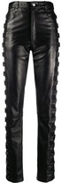 Manokhi leather high waisted trousers