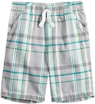 Boys 4-12 Jumping Beans Plaid Shorts