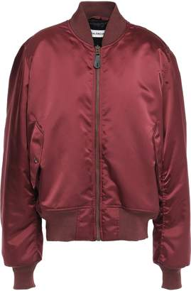 Balenciaga Embroidered Sateen Bomber Jacket