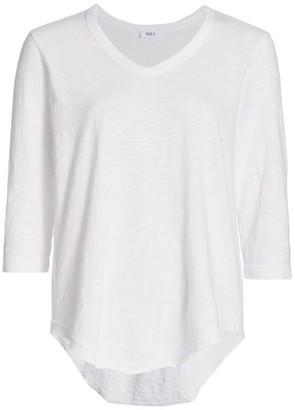 Wilt Distressed Three-Quarter Sleeve T-Shirt