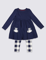 Marks and Spencer 2 Piece Dress & Leggings Outfit (3 Months - 5 Years)