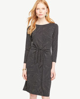 Ann Taylor Dot Wave Tie Front Dress