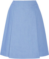 ADAM by Adam Lippes Stretch-denim skirt