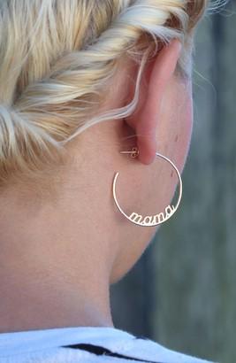 Kris Nations Mama Hoop Earrings