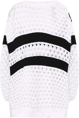 Sonia Rykiel Button-detailed Striped Open-knit Sweater