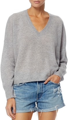 360 Cashmere Marina Boxy V-Neck Cashmere Sweater