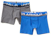 Under Armour Big Boys 8-20 2-Pack Solid Performance Boxer Briefs