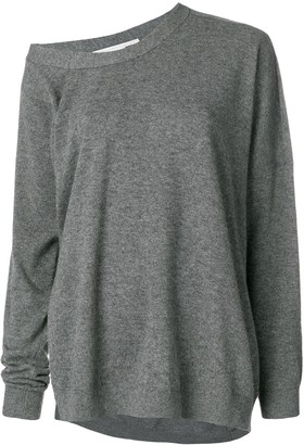 Stella McCartney asymmetric loose-fit jumper