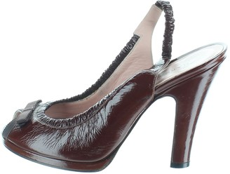 Marc Jacobs Burgundy Patent leather Heels