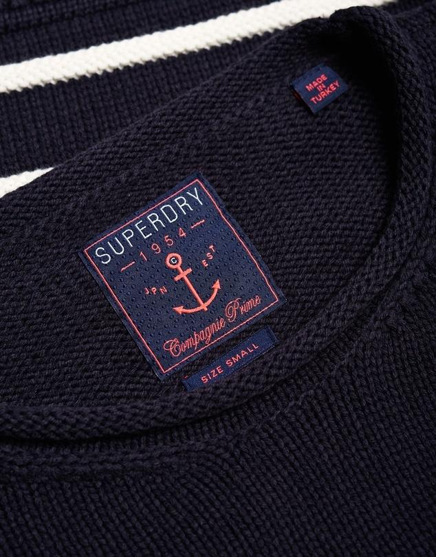 Superdry Marine Stripe Slouch Knit Jumper