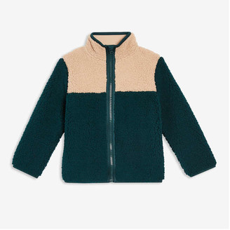 Joe Fresh Toddler Boys' Colour Block Jacket, Dark Green (Size 4)