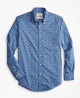 Brooks Brothers Luxury Collection Regent Fitted Sport Shirt, Button-Down Collar Floral Print