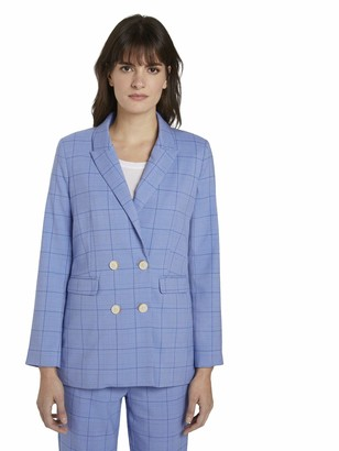 TOM TAILOR mine to five Women's Glencheck Blazer