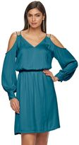 JLO by Jennifer Lopez Women's Cold-Shoulder Shift Dress