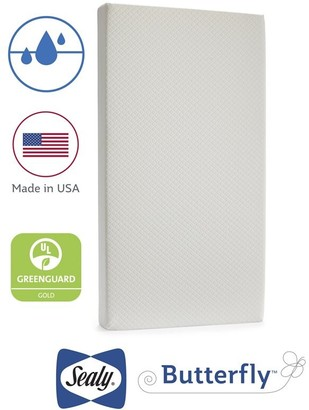 Sealy Butterfly Breathable Knit Crib Mattress-in-a-Box