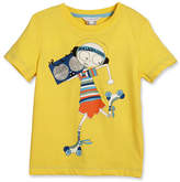 Little Marc Jacobs Essential Mister Marc Jersey Tee, White, Size 6-10