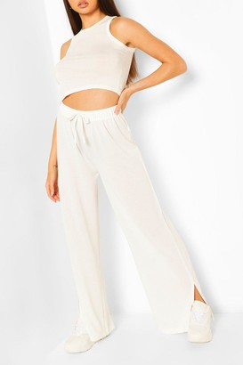boohoo Super Soft Split Leg Lounge trousers