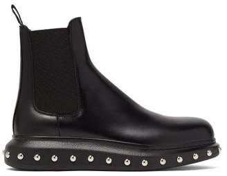 Alexander McQueen Studded Leather Chelsea Boots - Mens - Black Multi