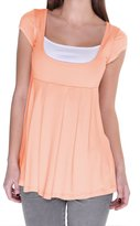 Glamour Empire. Womens Top T-shirt Short Sleeves Double Layer Neck. 960 (